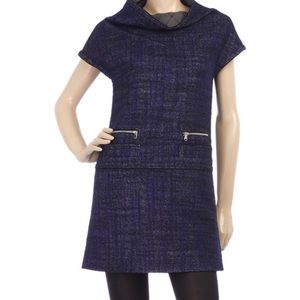 Marc by Marc Jacobs Blue Black Bramble Tweed Dress